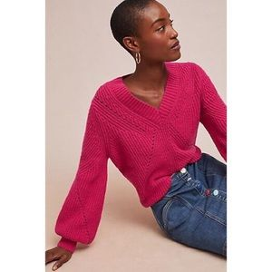 Anthropologie Chloe Oliver Perry Sweater Pink XS